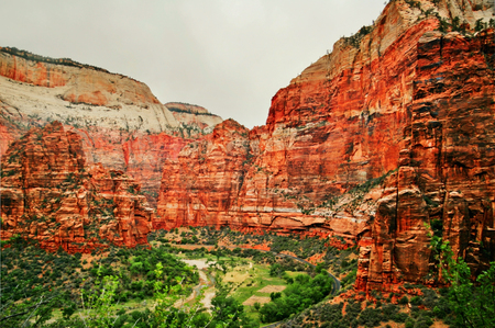 Picture of Zion National Park. Located in the Southwestern United States, Utah.