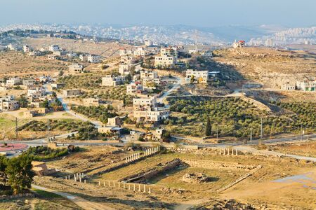 israeli: Israeli landscape view from Herodion Stock Photo