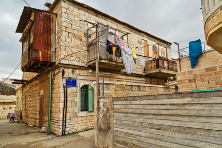 shearim: JERUSALEM, ISRAEL - DECEMBER 29, 2016:JERUSALEM, ISRAEL - DECEMBER 29, 2016: Mea Shearim quarter one of oldest districts in Jerusalem. quarter was founded in 1874 by representatives of religious community Zalman Baharan and Joseph Rivlin
