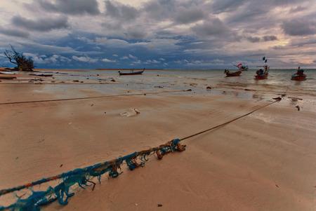 boas: Boas in the tropical sea under gloomy dramatic sky. Thailand Stock Photo