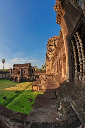 Angkor Wat Temple, Siem reap, Cambodia.  Stock Photo