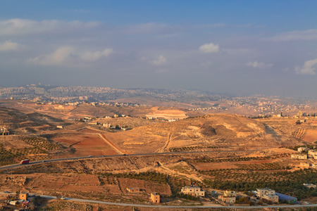 Israeli landscape view from Herodion. Israel Stock Photo