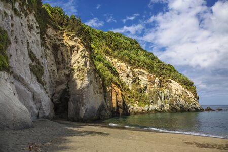 Amazing sea landscape Moinhos beach Porto Formoso Sao Miguel island Azores island Portugal