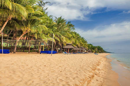Beautiful tropical beach with sea view, clean water & blue sky at Phu Quoc island in Vietnam Reklamní fotografie