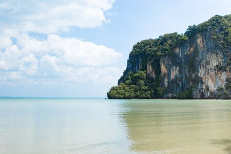 Beatiful green rocks at Railay beach, Krabi, Thailand