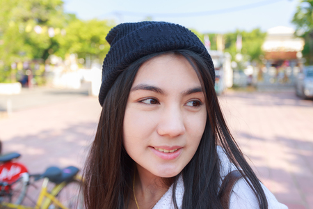A portrait of a beautiful young asian woman. 版權商用圖片