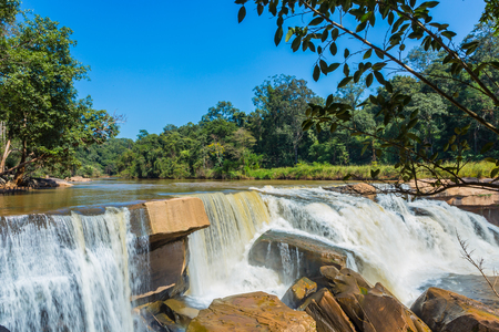 Beautiful waterfall in green forest in jungle in the mountain ,phetchabun , Thailand