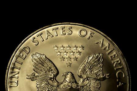 Modified macro shot of a silver dollar