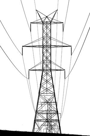 Hoge spanning torens