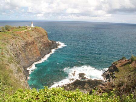 Kiluaea Point Lighthouse Stock Photo