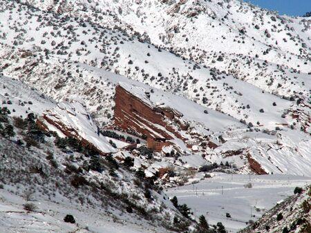 Red Rocks Amphitheater In Winter