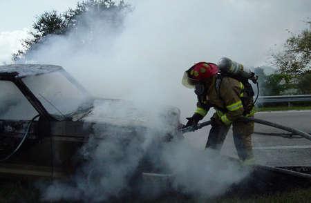 Firefighter On The Job