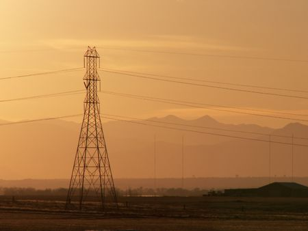 High Tension Stock Photo