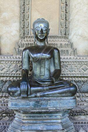 Buddha statue in Laos Editorial