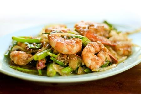 Fried shrimp, shrimp paste. Stock Photo
