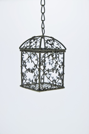 birdcage isolated white background Stock Photo - 10990270