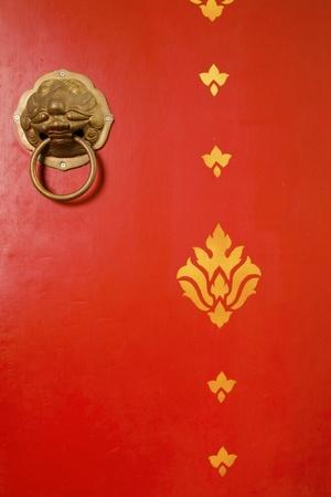 Red chinese door  photo