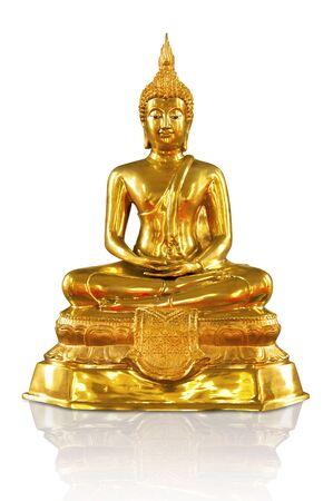 Beautiful Buddha image in Thailand, a white background  Stock Photo