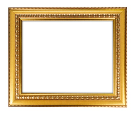 gold antique frame isolated on white background  Stock Photo - 10990131