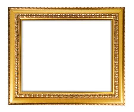 gold antique frame isolated on white background Stock Photo - 10990131