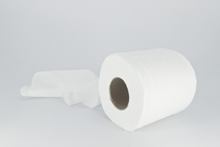 toilet paper isolated on a white background  photo