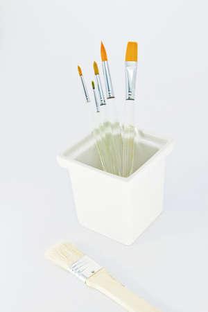 paint brush on white background  photo