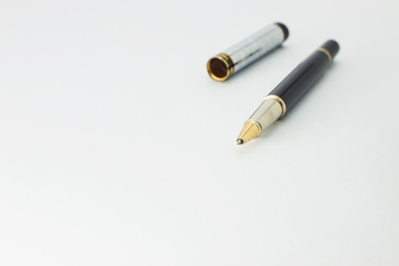Ball pen on a white background Stock Photo - 11067894