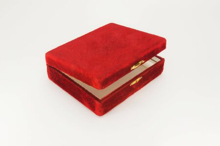 Red jewelry box others value stuff into it  photo