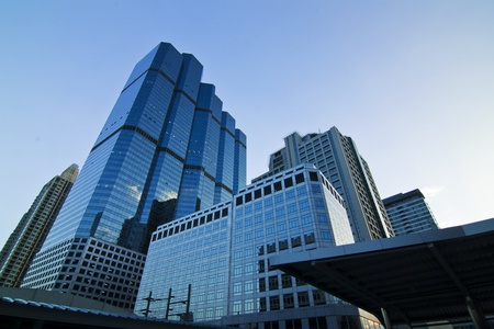 zone: business area, gebouwen in de stad van Bangkok Stockfoto