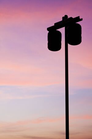 Street lights at dusk photo