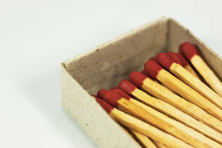 Group of matches on white Stock Photo - 11345686