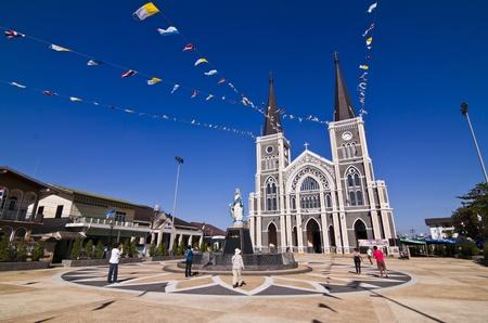 Catholic church at Chantaburi province, Thailand.  Editorial