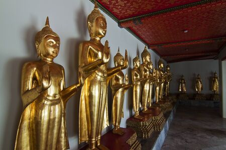 Buddhas. Wat Pho, Bangkok, Thailand