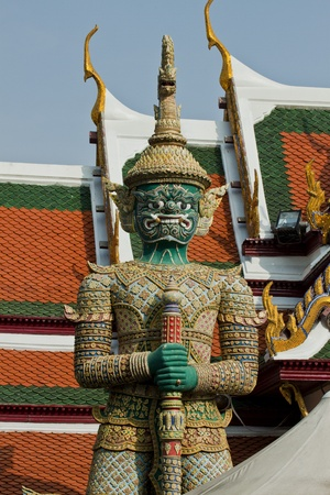 Giant at The temple in the Grand palace area.