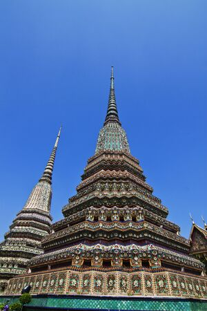 Authentic Thai Architecture in Wat Pho,Thailand  photo