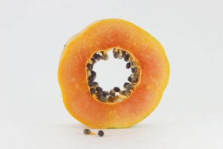 Papaya fruit sliced Stock Photo