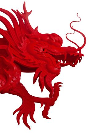 chinese new year dragon: Chinese style dragon statue Stock Photo
