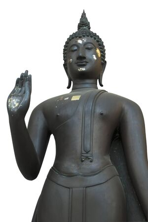 Black Buddha statues  photo