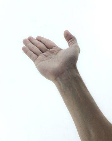 Empty hand isolated on white background Stock Photo - 12851843