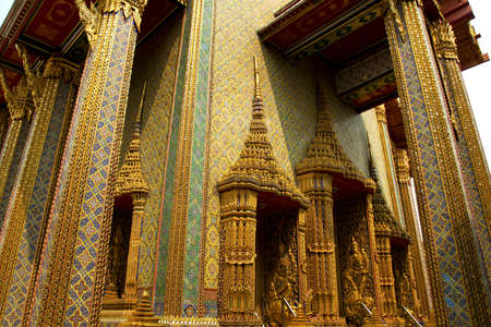 decorative vintage background in thai style  photo