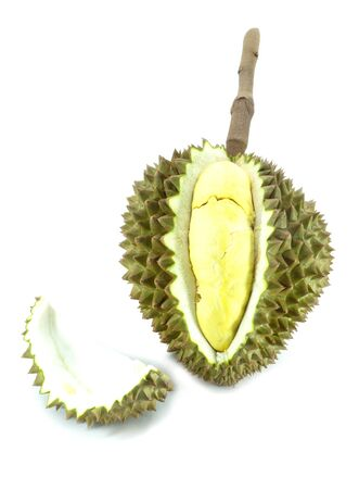 King of fruits, durian on white background  Stock Photo - 13291538
