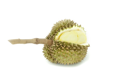King of fruits, durian on white background  photo