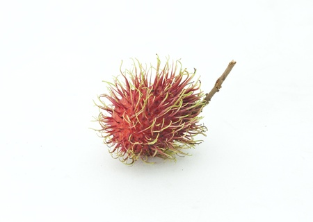 Rambutan fruits isolated on white background  photo