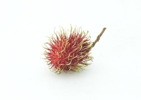 Rambutan fruits isolated on white background