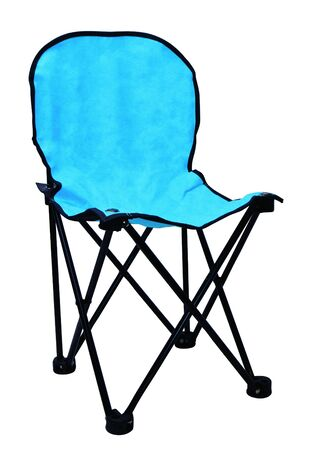 Blue folding chair for camping and outdoor use   photo