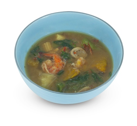 Thai Spicy mixed vegetable soup  photo