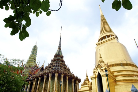 Pagoda at Wat Phra Kaew Grand Palace of Thailand  photo