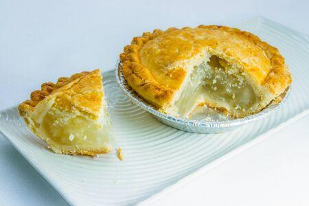 british cuisine: pie with flaky pastry Stock Photo