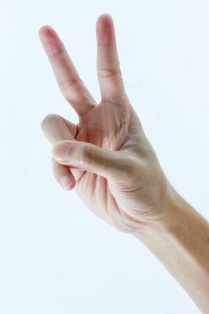 hand and two finger Stock Photo