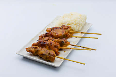grilled pork, traditional thai style